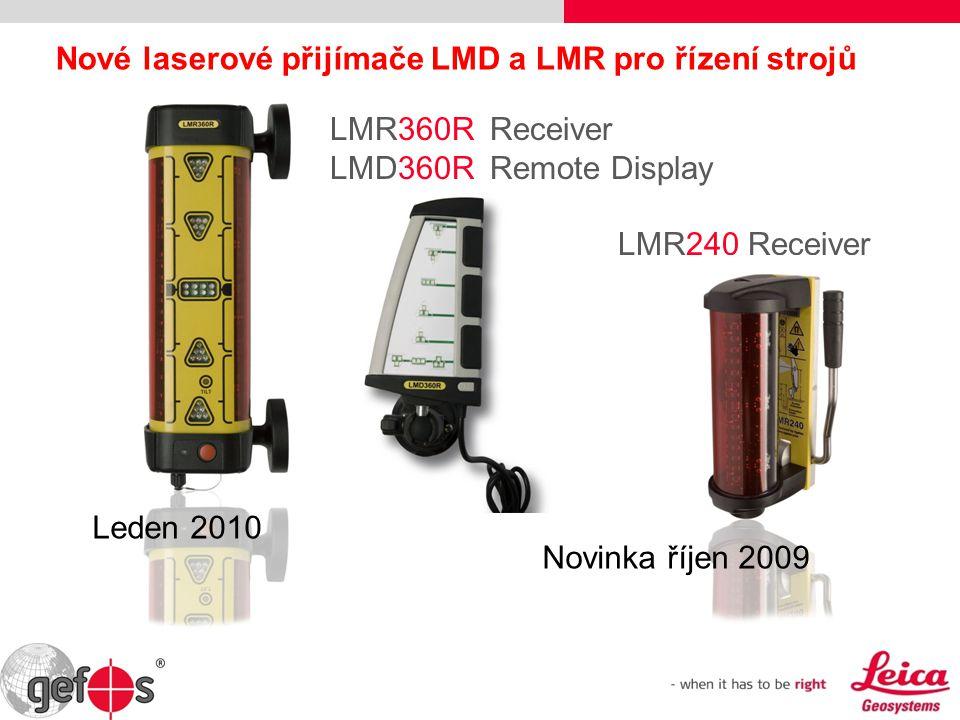 Nové laserové přijímače LMD a LMR pro řízení strojů