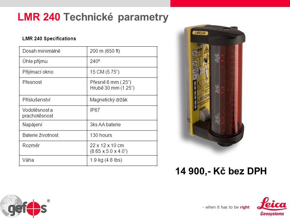 LMR 240 Technické parametry