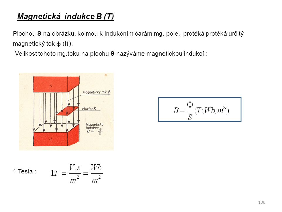 Magnetická indukce B (T)