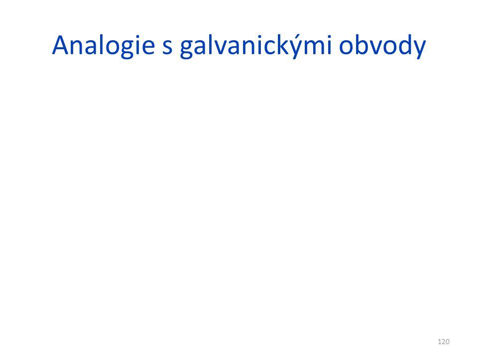 Analogie s galvanickými obvody