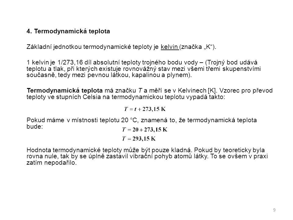 4. Termodynamická teplota