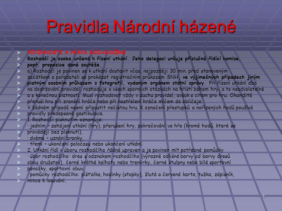 Pravidla Národní házené