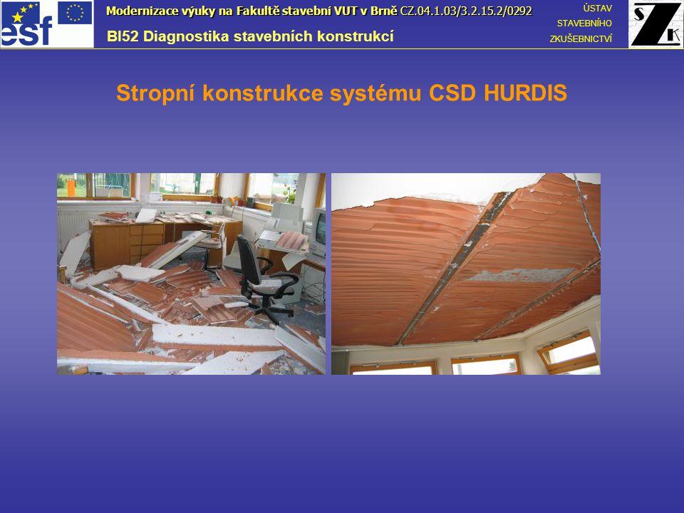 Stropní konstrukce systému CSD HURDIS