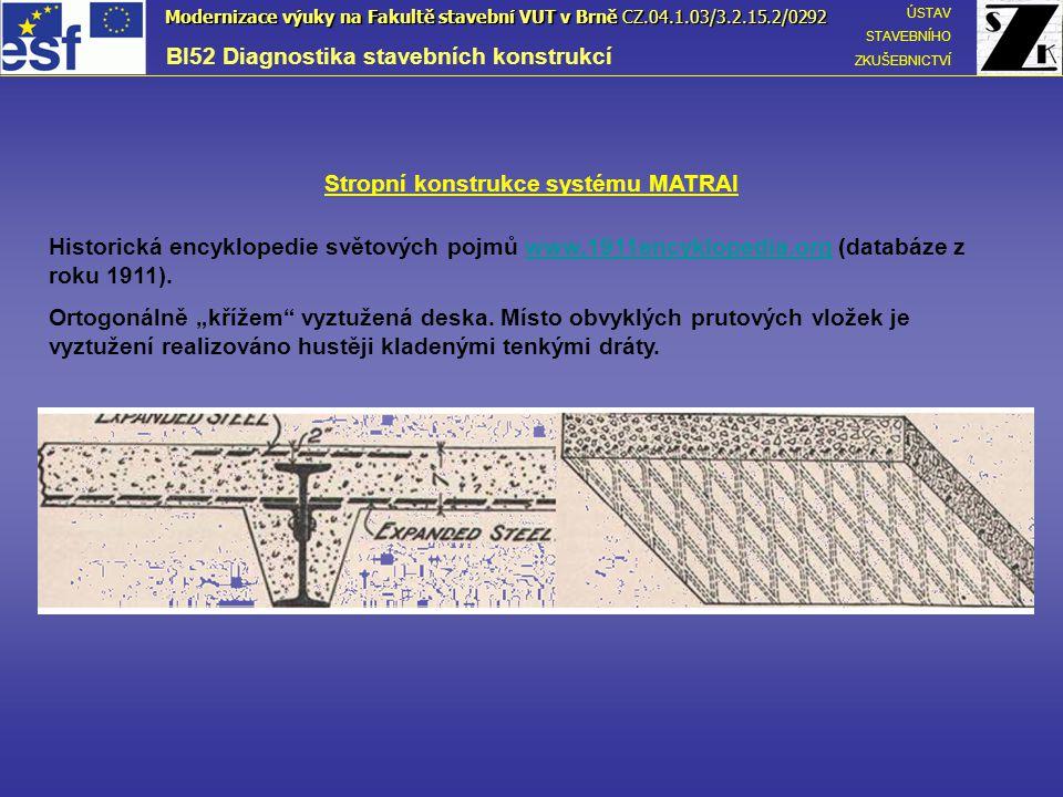 Stropní konstrukce systému MATRAI