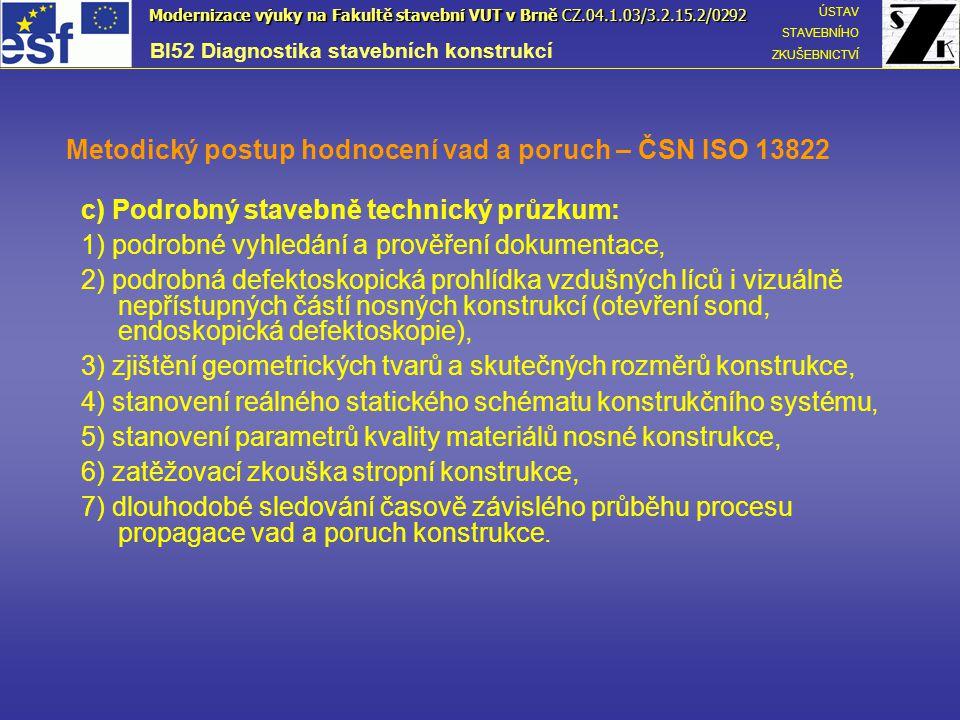 Metodický postup hodnocení vad a poruch – ČSN ISO 13822