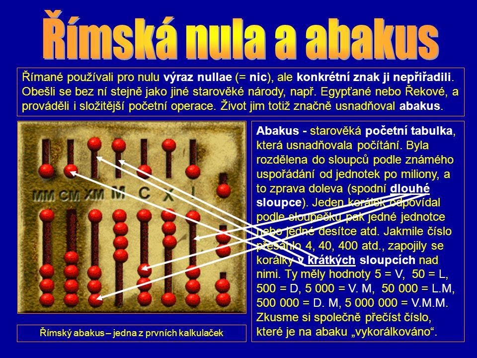 Římský abakus – jedna z prvních kalkulaček