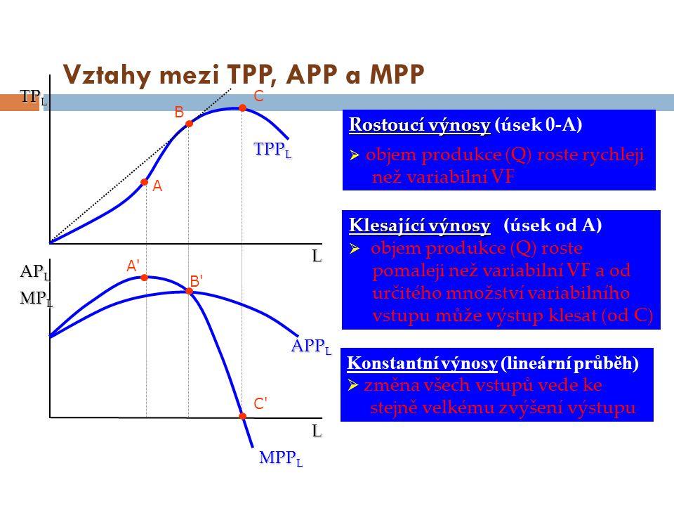 Vztahy mezi TPP, APP a MPP