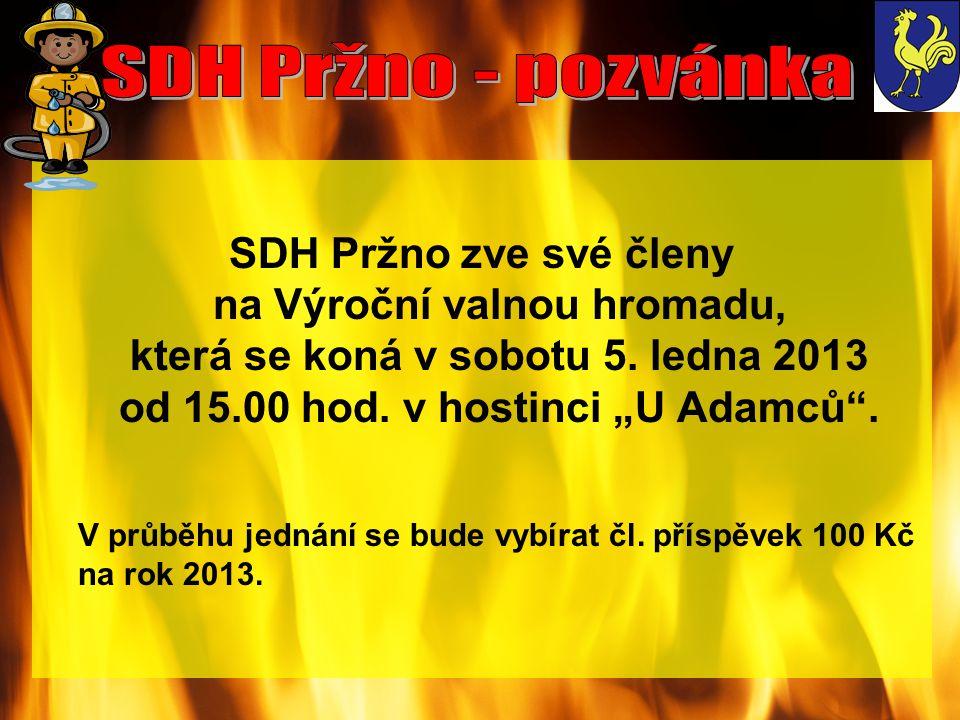 SDH Pržno - pozvánka