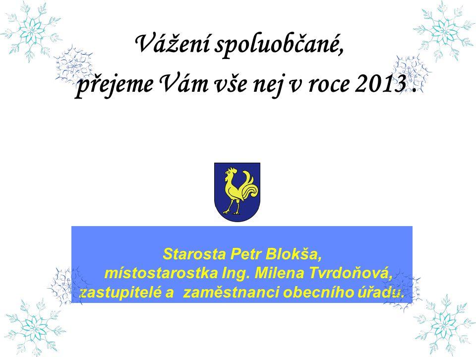 Vážení spoluobčané, přejeme Vám vše nej v roce 2013 .