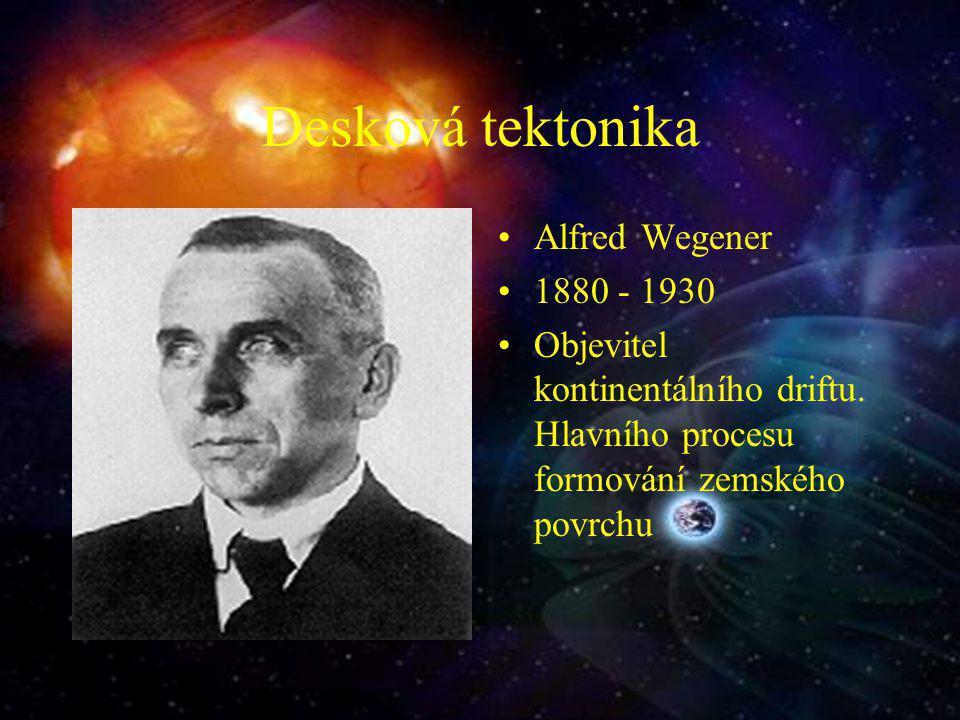 Desková tektonika Alfred Wegener 1880 - 1930