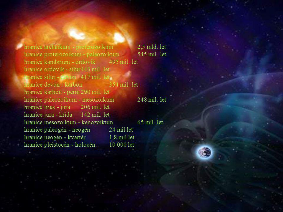 hranice archaikum - proterozoikum. 2,5 mld
