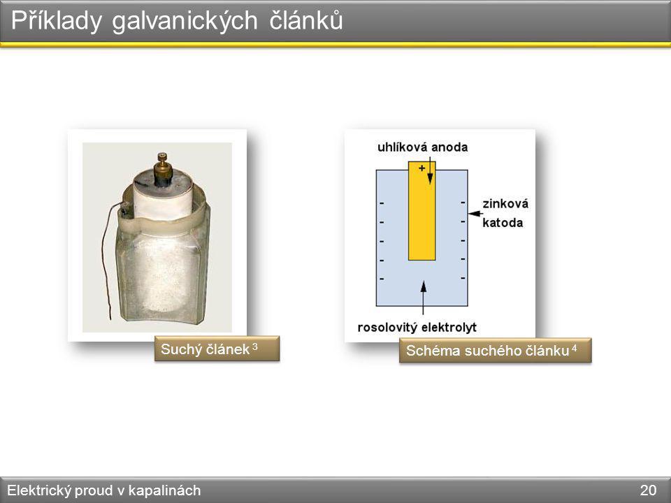 Příklady galvanických článků
