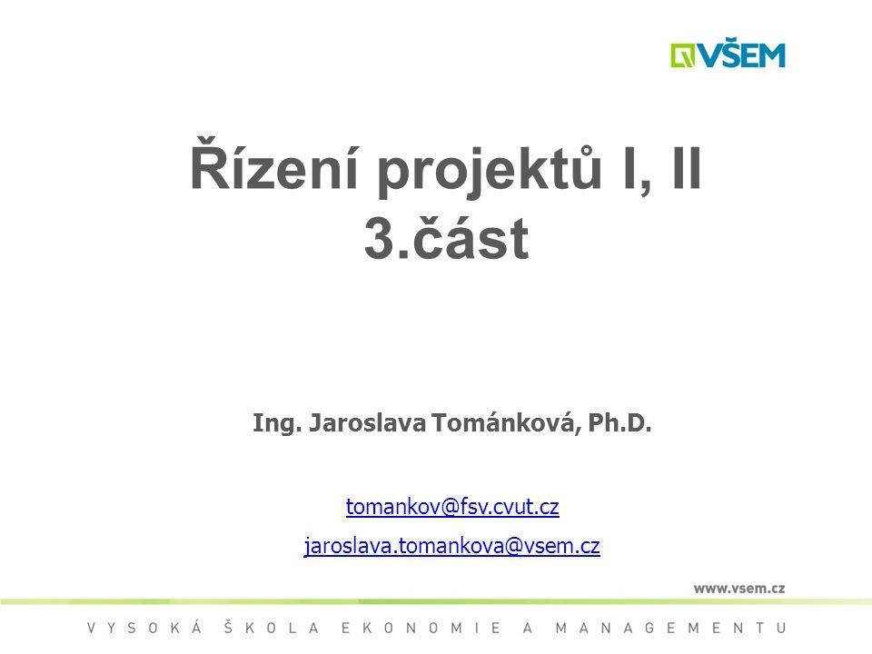 Řízení projektů I, II 3.část