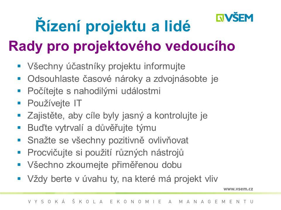 Rady pro projektového vedoucího