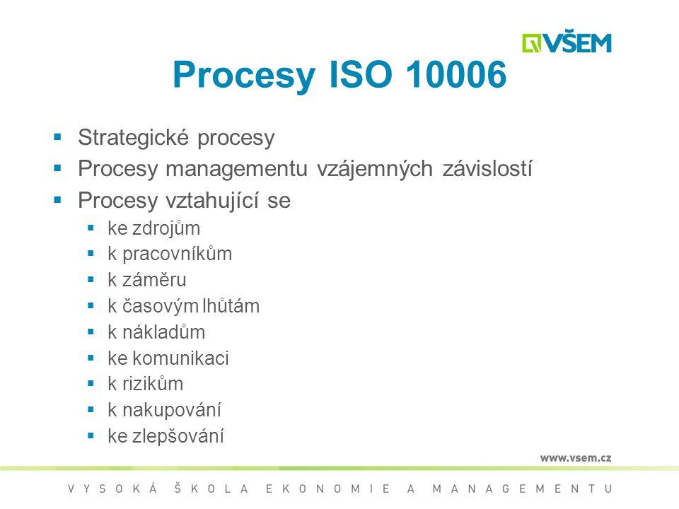 Procesy ISO 10006 Strategické procesy