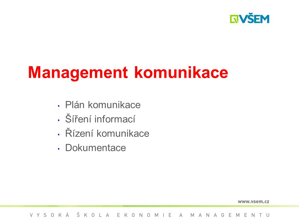 Management komunikace