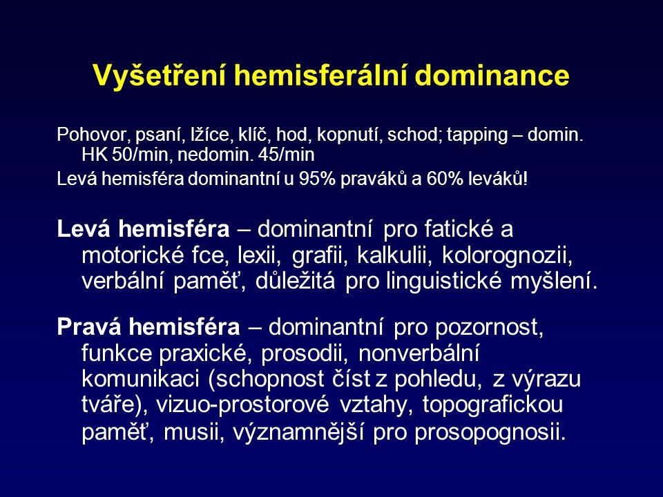Vyšetření hemisferální dominance