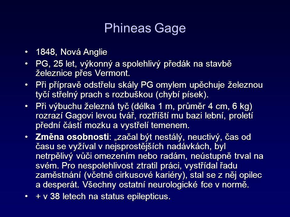 Phineas Gage 1848, Nová Anglie