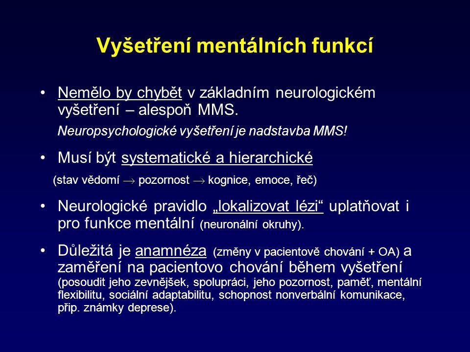 Vyšetření mentálních funkcí