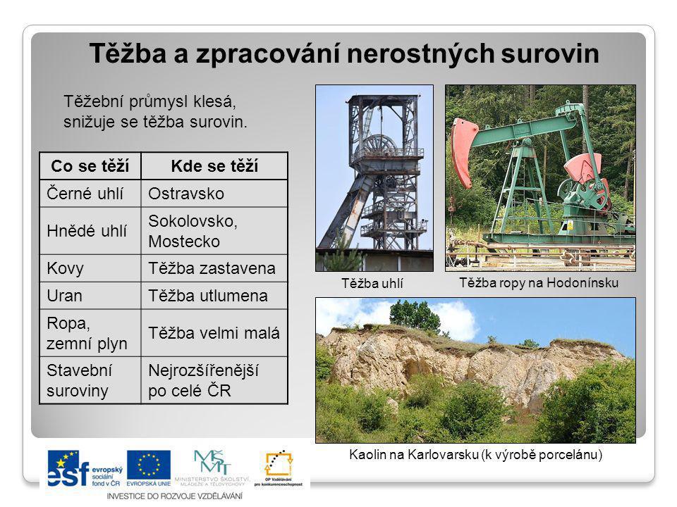 Těžba a zpracování nerostných surovin