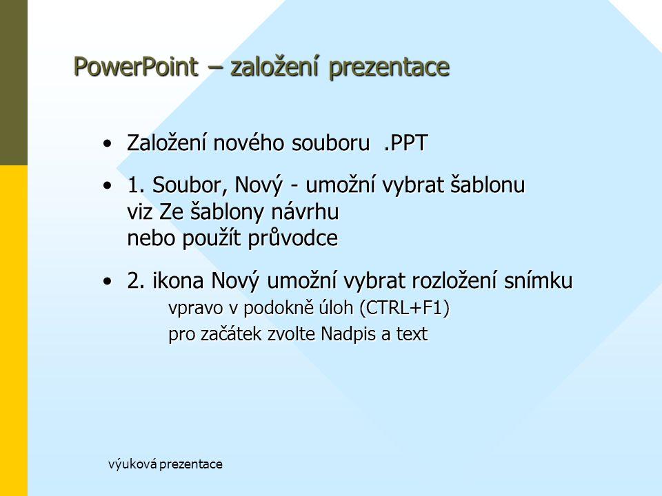 PowerPoint – založení prezentace