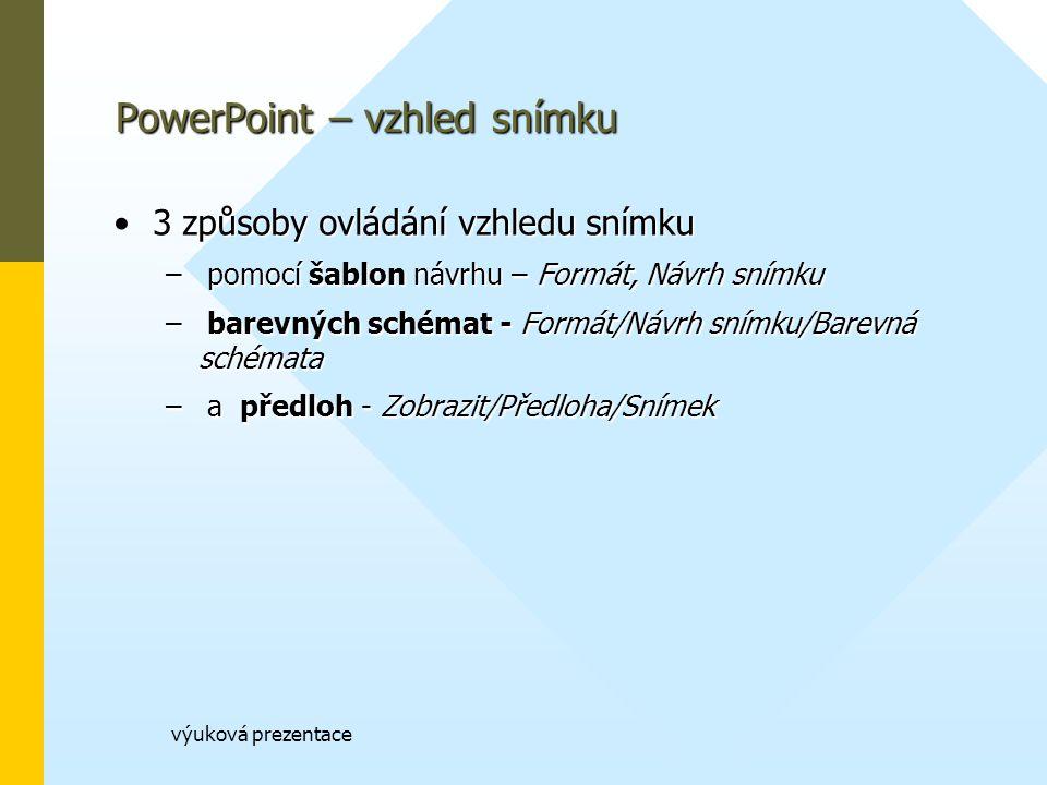 PowerPoint – vzhled snímku