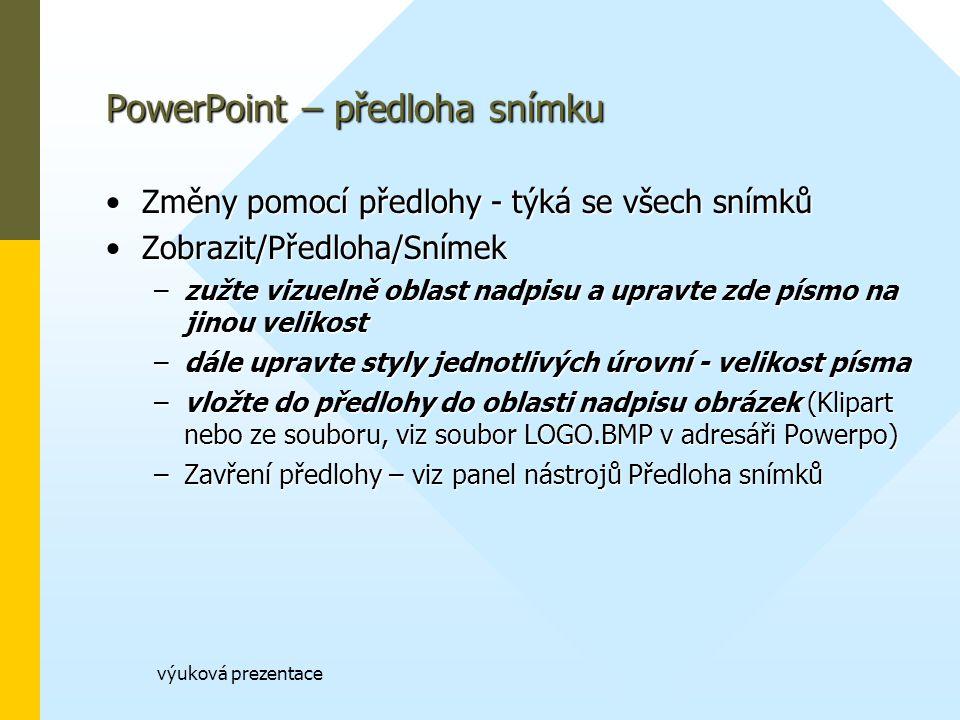 PowerPoint – předloha snímku