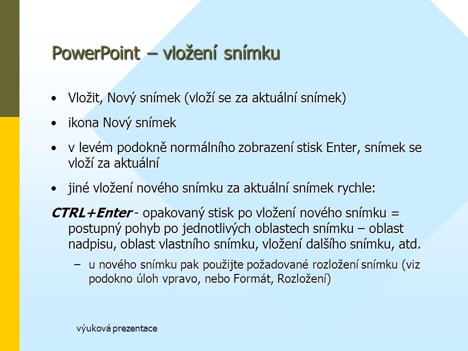 PowerPoint – vložení snímku
