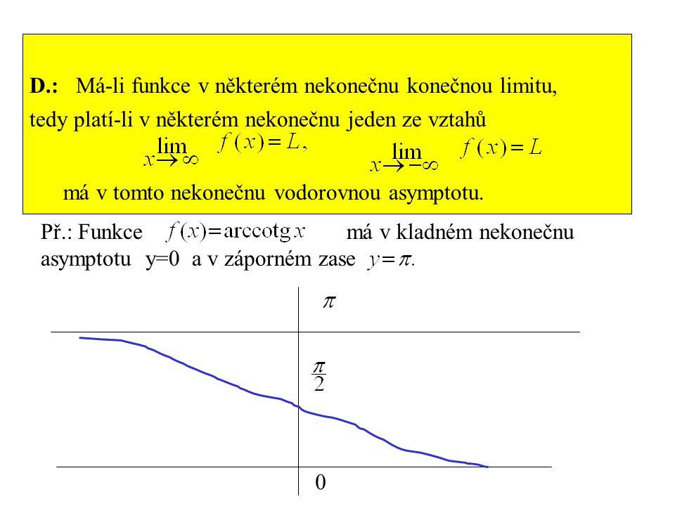 D.: Má-li funkce v některém nekonečnu konečnou limitu,