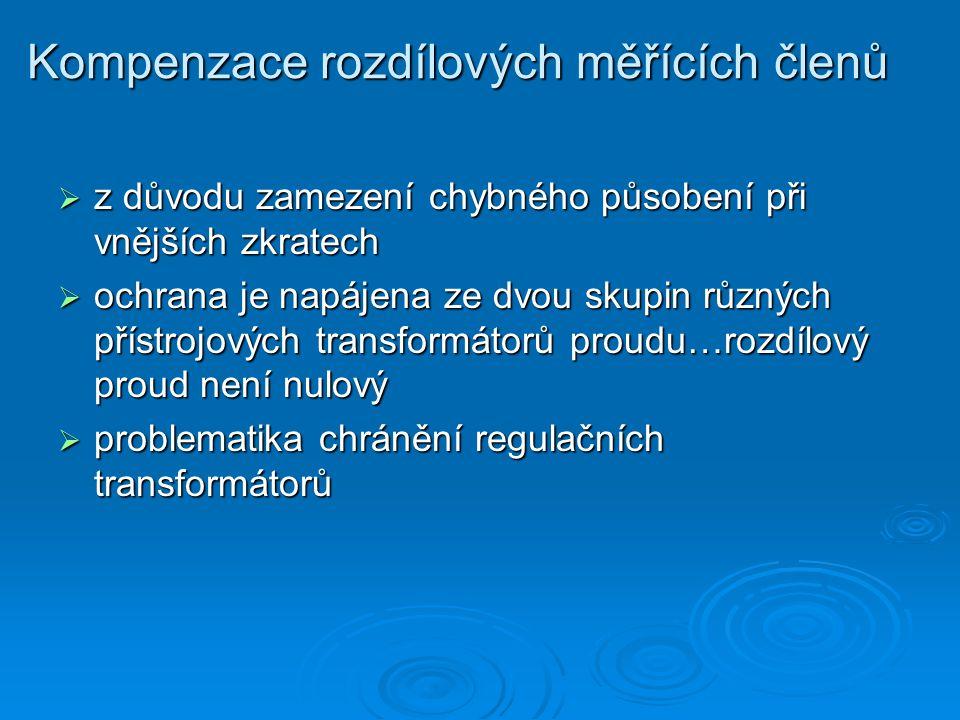 Kompenzace rozdílových měřících členů