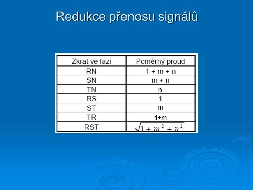 Redukce přenosu signálů