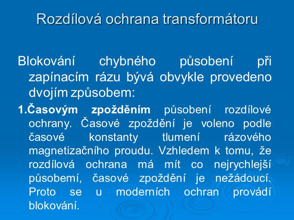 Rozdílová ochrana transformátoru