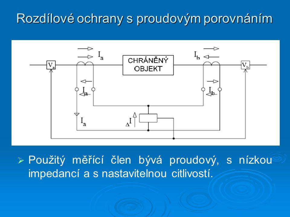 Rozdílové ochrany s proudovým porovnáním