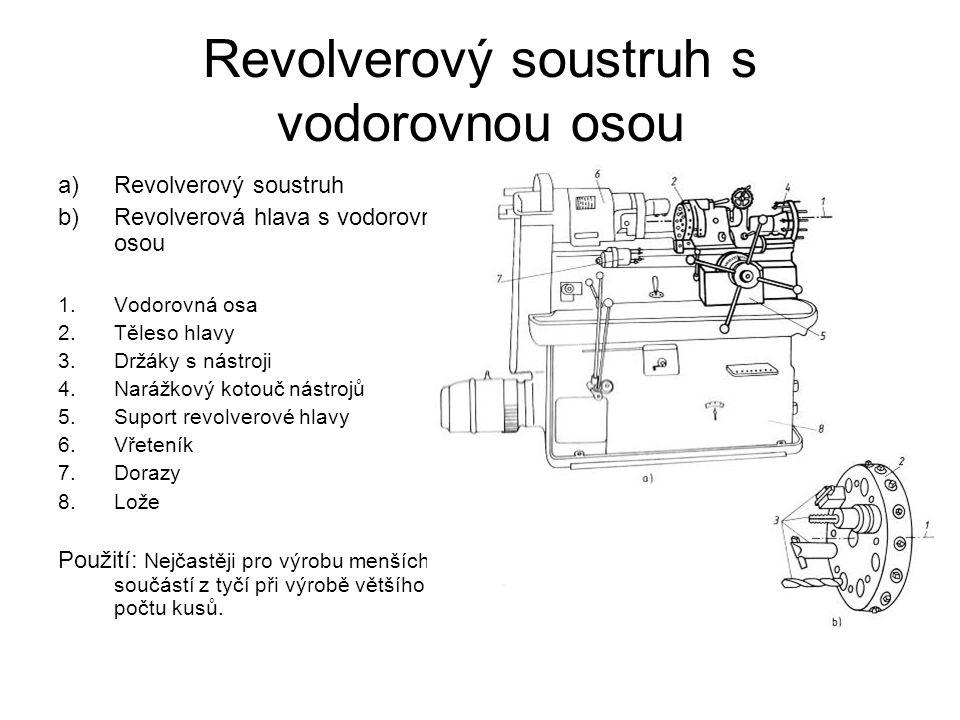 Revolverový soustruh s vodorovnou osou