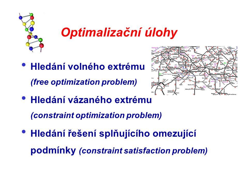 Optimalizační úlohy Hledání volného extrému (free optimization problem)