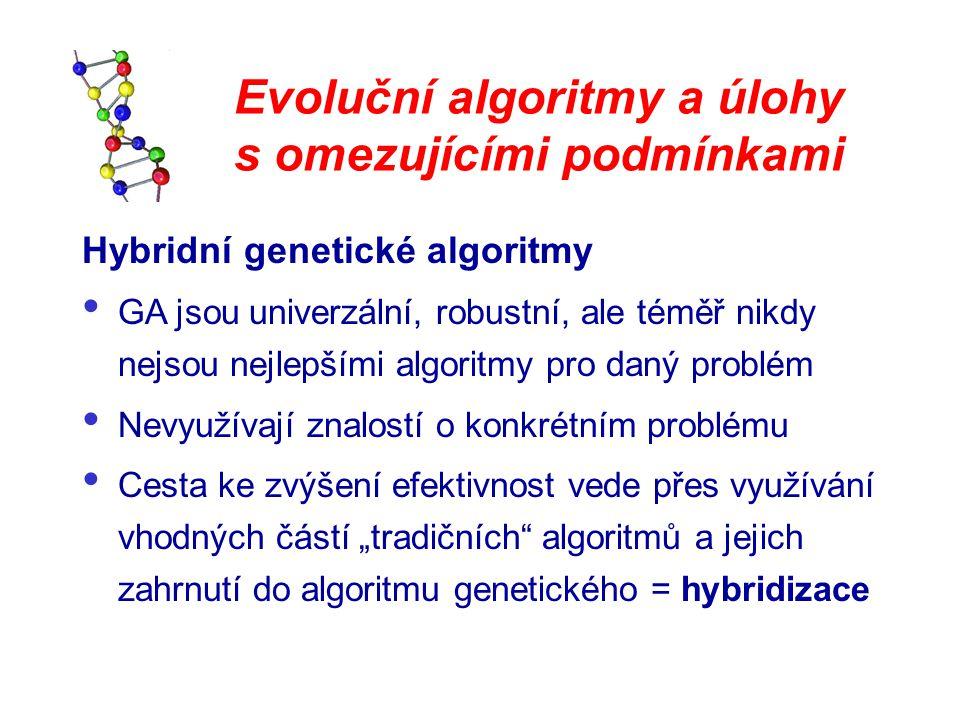 Evoluční algoritmy a úlohy s omezujícími podmínkami