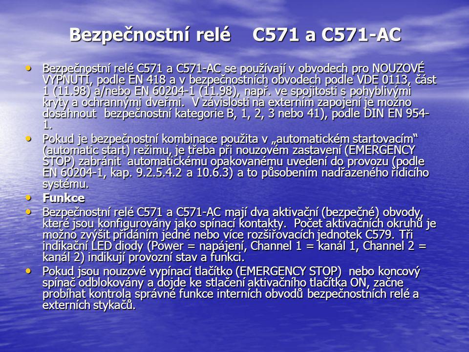 Bezpečnostní relé C571 a C571-AC