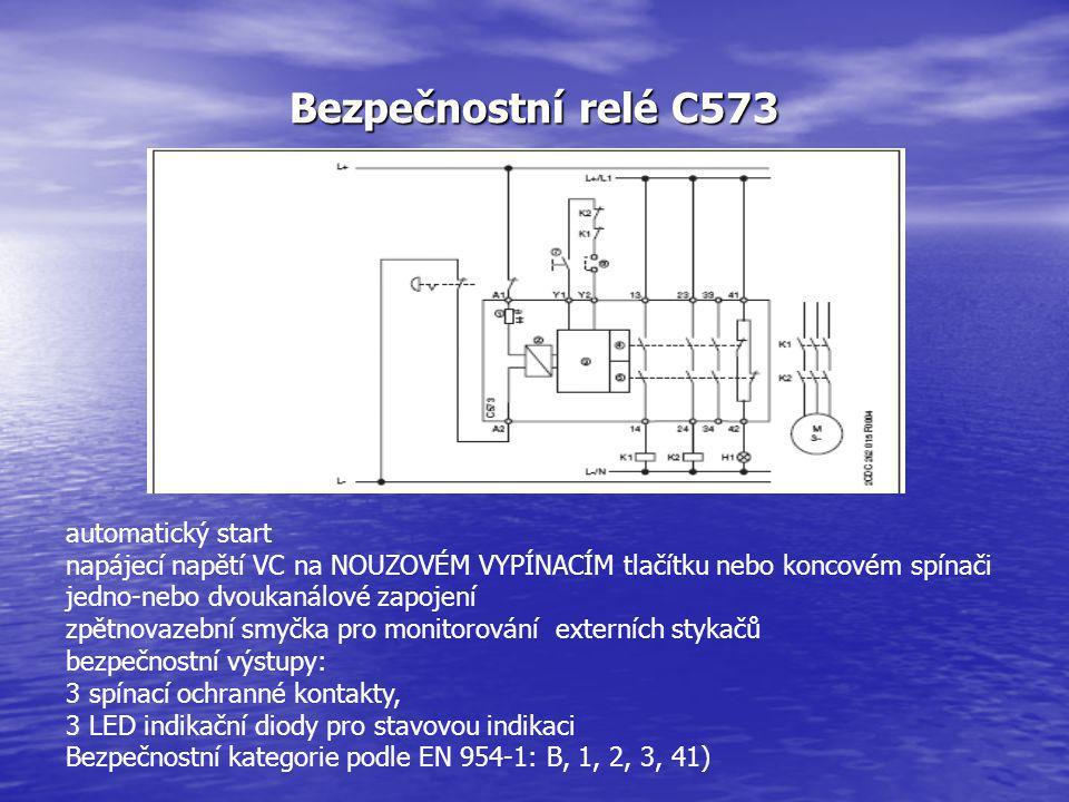 Bezpečnostní relé C573 automatický start