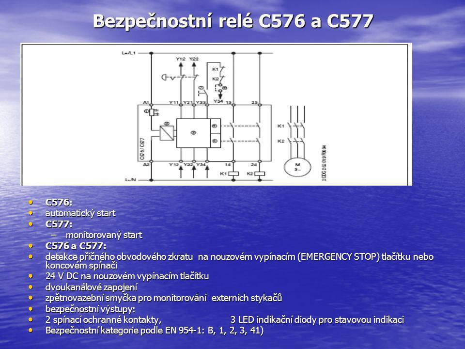 Bezpečnostní relé C576 a C577 C576: automatický start C577: