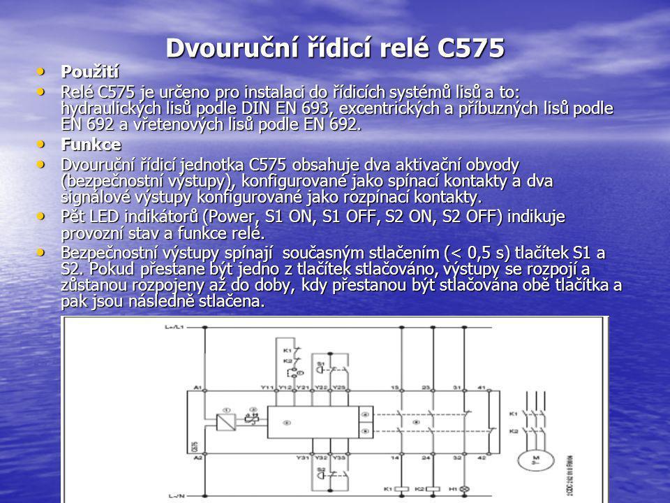 Dvouruční řídicí relé C575