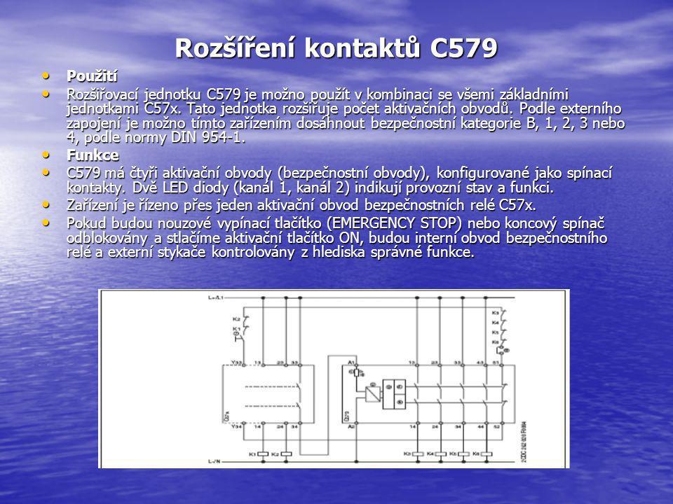 Rozšíření kontaktů C579 Použití