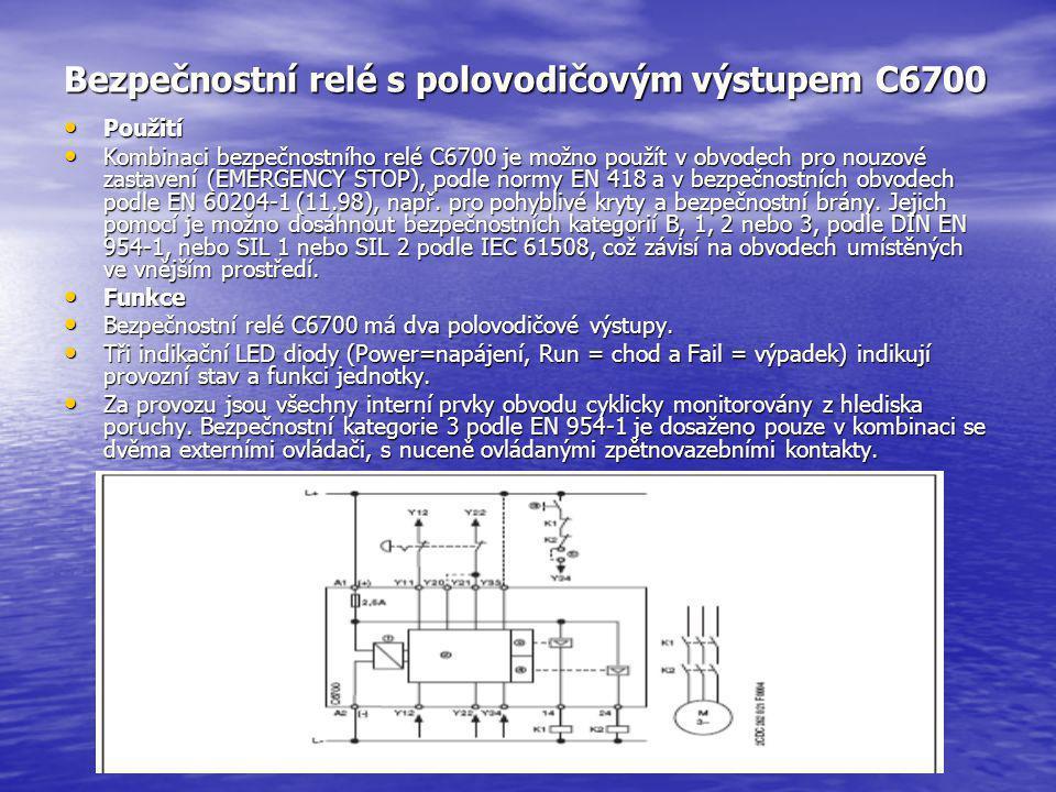 Bezpečnostní relé s polovodičovým výstupem C6700