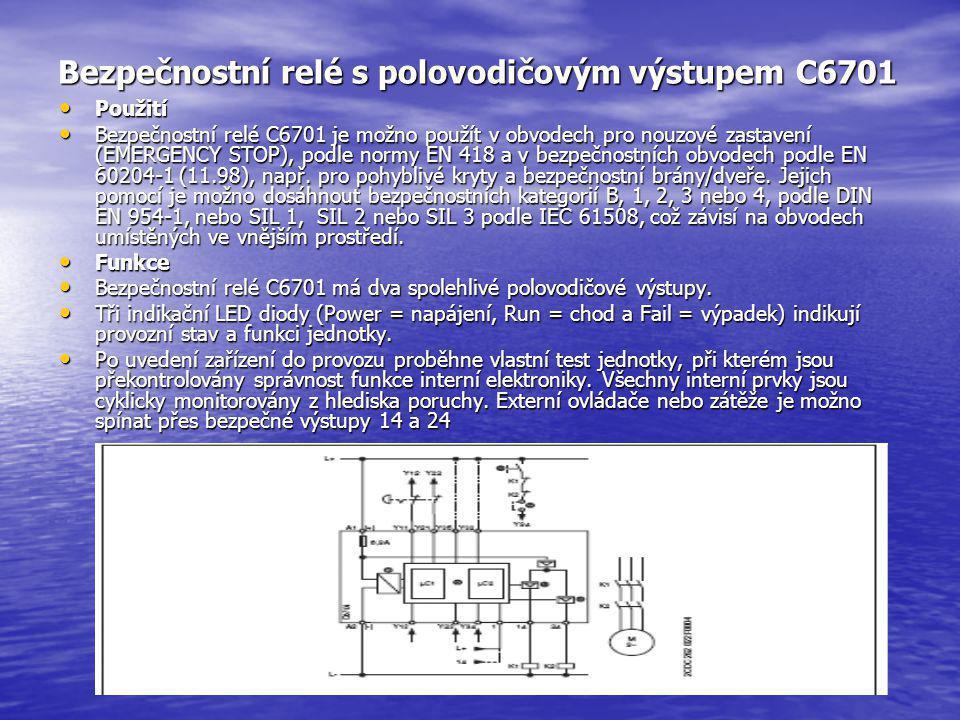 Bezpečnostní relé s polovodičovým výstupem C6701