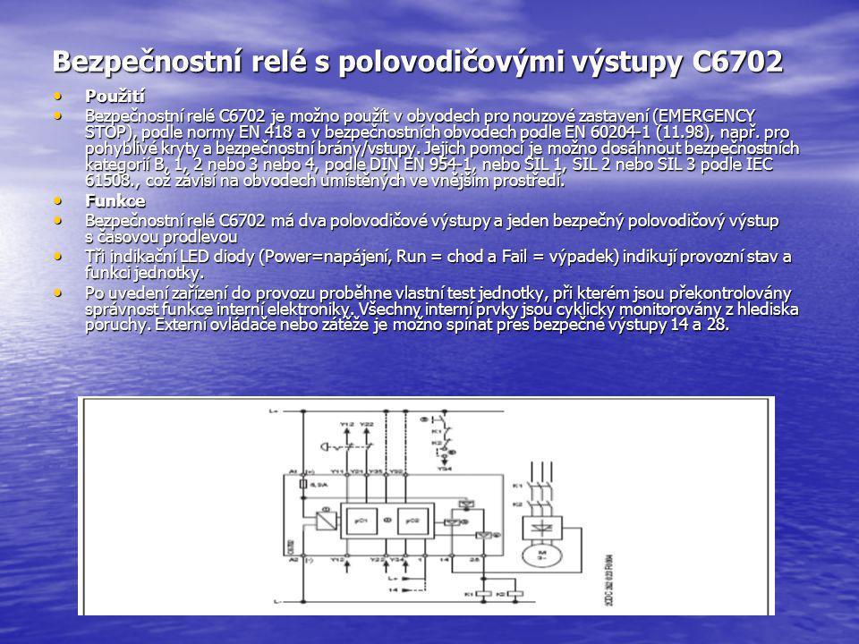 Bezpečnostní relé s polovodičovými výstupy C6702