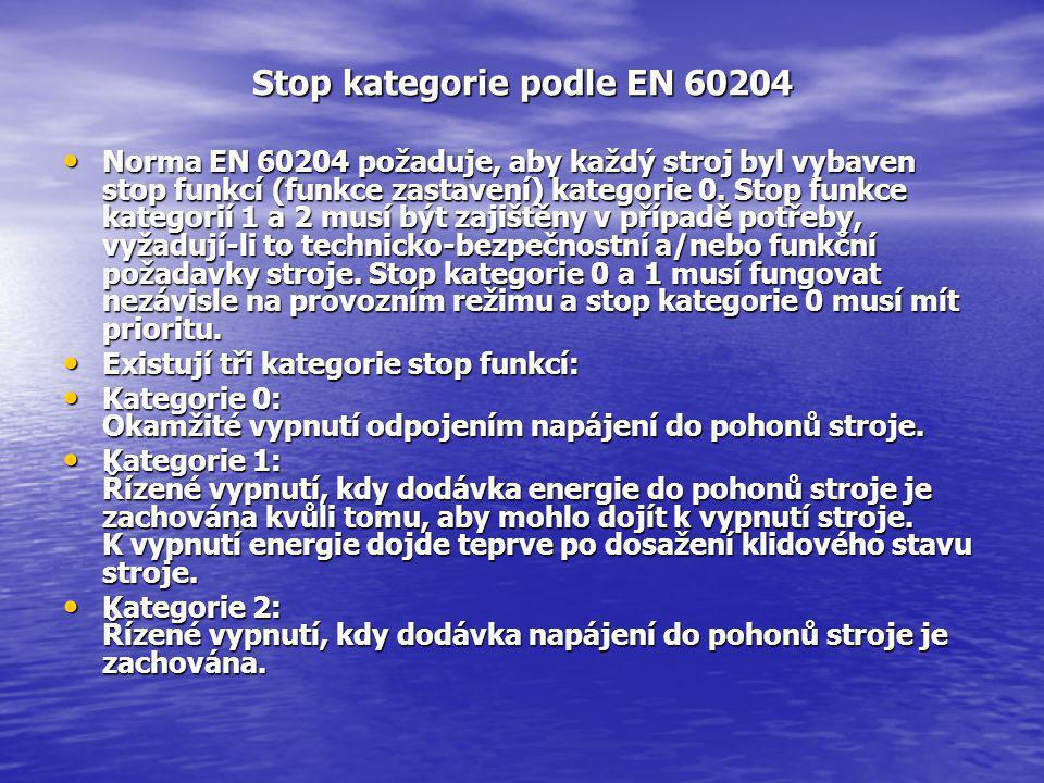 Stop kategorie podle EN 60204