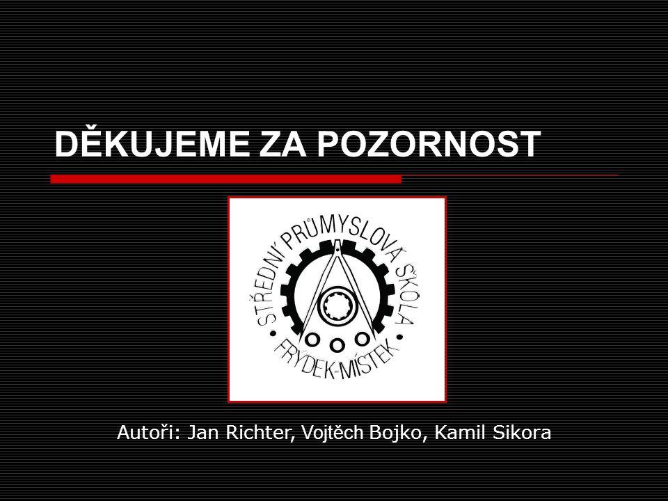 Autoři: Jan Richter, Vojtěch Bojko, Kamil Sikora