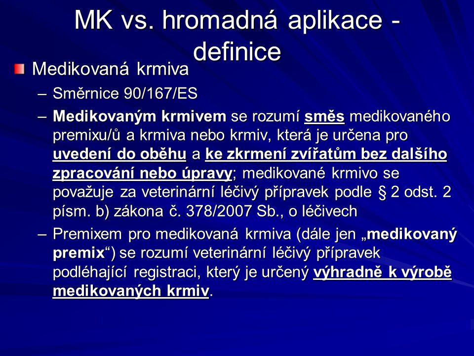 MK vs. hromadná aplikace - definice