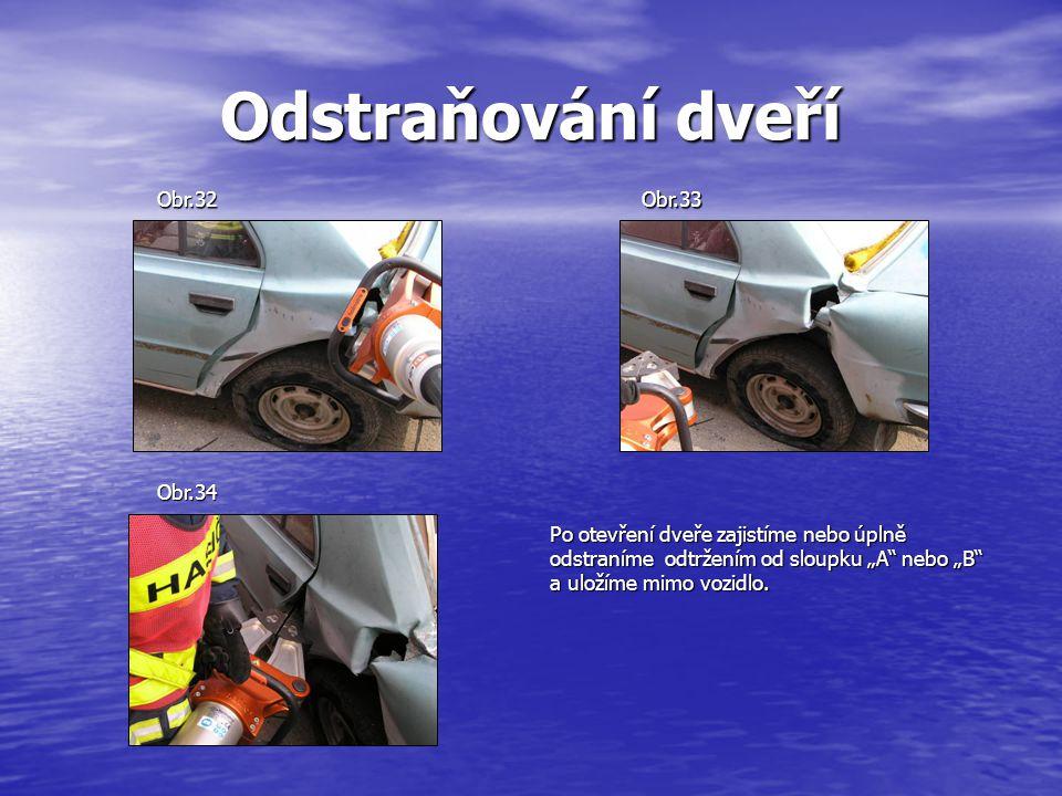 Odstraňování dveří Obr.32 Obr.33 Obr.34