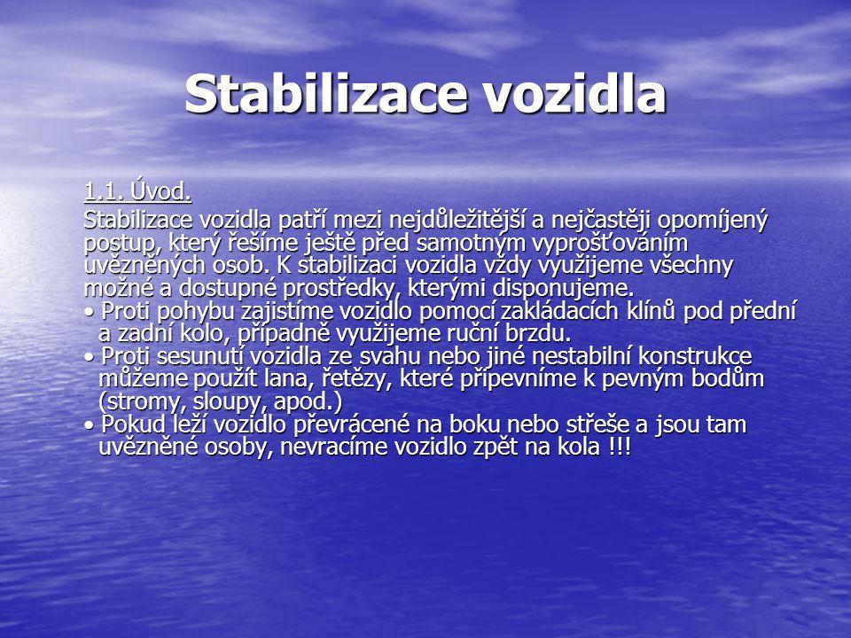 Stabilizace vozidla 1.1. Úvod.
