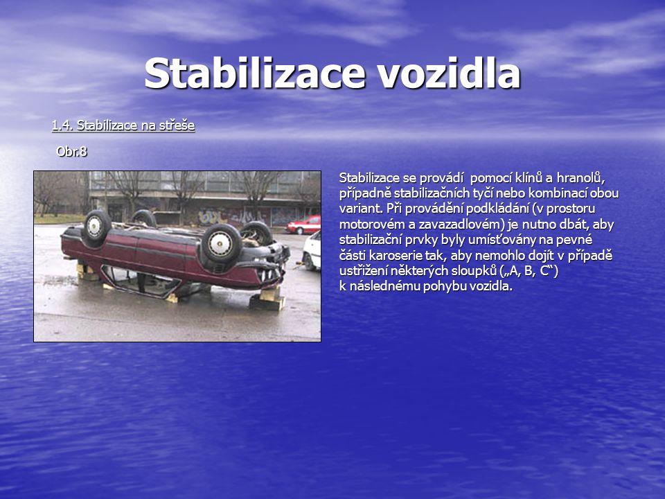 Stabilizace vozidla 1.4. Stabilizace na střeše Obr.8